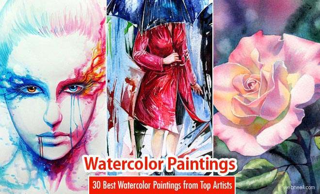آبرنگ watercolor paintings