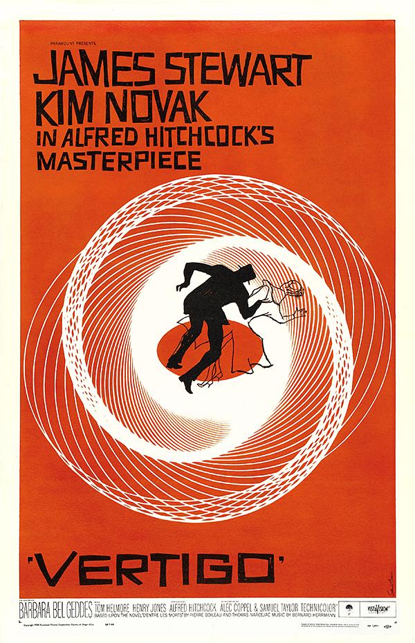 Vertigo poster پوستر فیلم سرگیجه